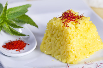food combinations, saffron rice.