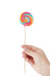 Colorful lollipop isolated on the white