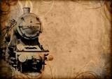 retro vintage technology, old train, grunge background - 42430570