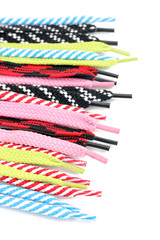 Colorful shoelaces isolated on white