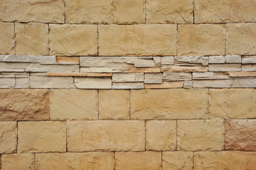Wall With Stone-Like  Tiles
