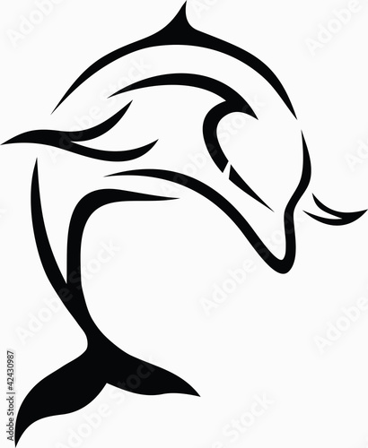 Tribal dolphin / vector tattoo