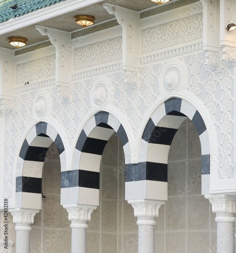 Makkah Kaaba pillars outdoors