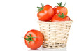fresh tomatoes isolated