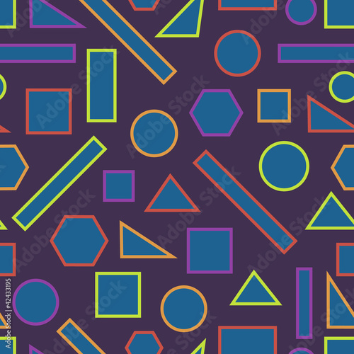 Seamless pattern with geometric shape