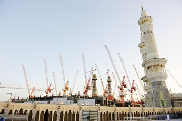 Building ,construction in Makkah