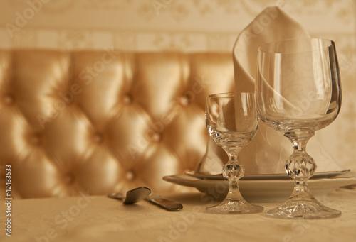 tableware at restaurant