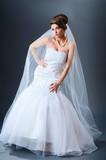 Beautiful bride in studio shooting