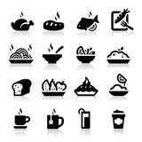 Food and Drink icons set Elegant series