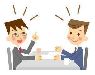 ビジネスマン 商談 イラスト