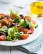 Chicken salad on kitchen table