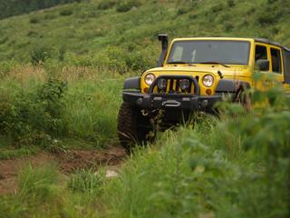 4x4 jaune-jeep