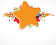 abstract color stars on light vector background