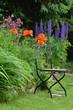 Garten Stuhl Blumen
