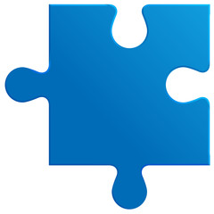 Puzzlespiel - blau