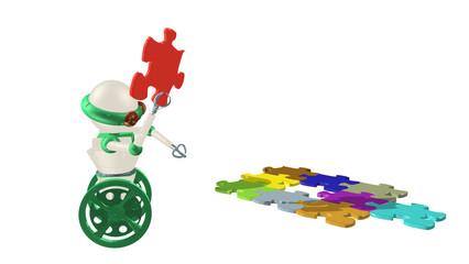 robot au puzzle 2