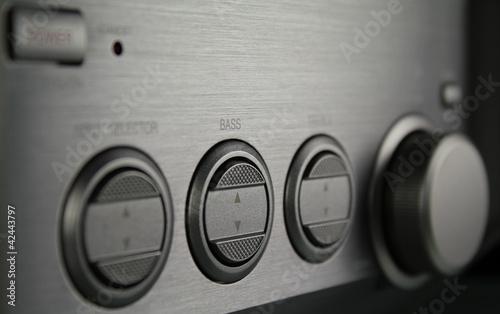 Leinwanddruck Bild Stereoanlage