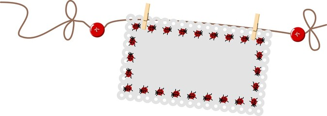 Ladybug Label String