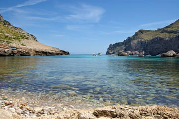Across sea in Cala Figuera north