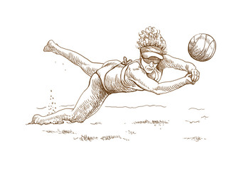 volleyball player (woman) - this is original sketch