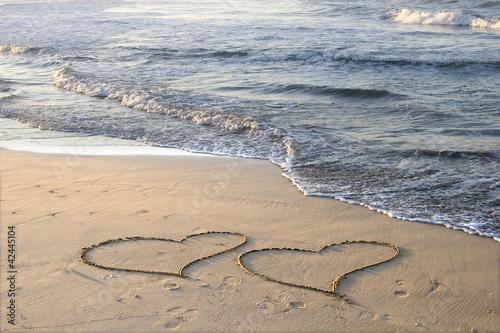 Fototapeten,herz,2,herz,sand