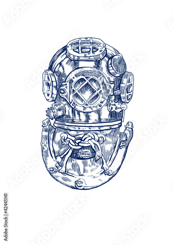 suit - helmet, diver (This is original drawing)
