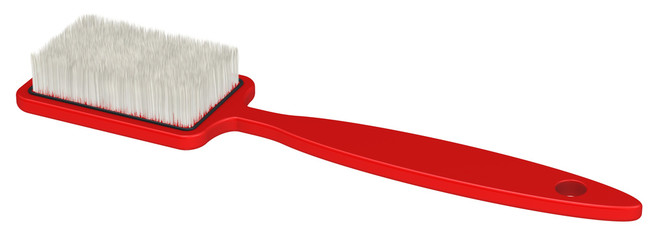 Red clothes brush