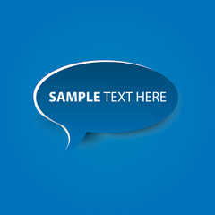 Vector Bubble cut out paper  - template for your text