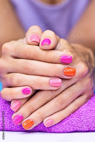 Bright stylish manicure
