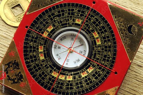 Leinwanddruck Bild 羅庚 Luopan 羅盤 Китайский компас Kompas