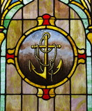 Stained Glass Anchor Image