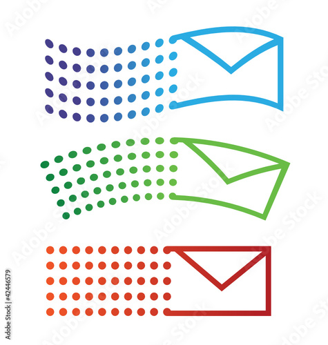 Email flying icons