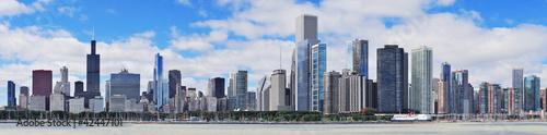 Chicago city urban skyline panorama - 42447101