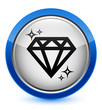 Diamond blue button