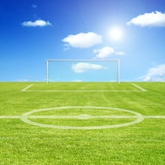 Fussballplatz im Fokus