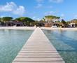 ponton plage Palombagia, Corse