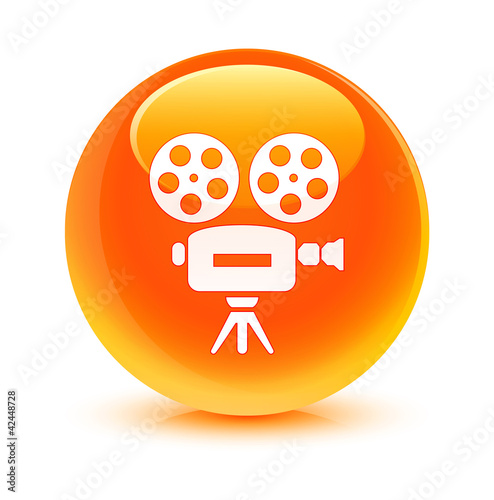 Video Camera Orange Button