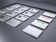 ATM machine keypad numbers