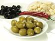 Olives and garlic