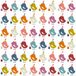 48 Cute Birthday Birds Retro