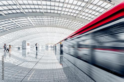 Poster subway station
