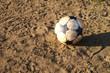 Fussball auf Spielplatz