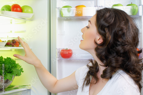 fridge with food