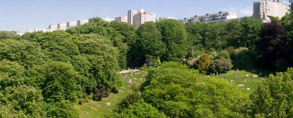 Vue depuis les buttes chaumont - Paris