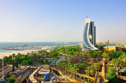 Leinwanddruck Bild View of Jumeirah Beach. Dubai.