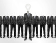 Businessman, light bulb head