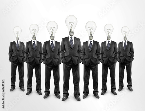 Businessman, light bulb head