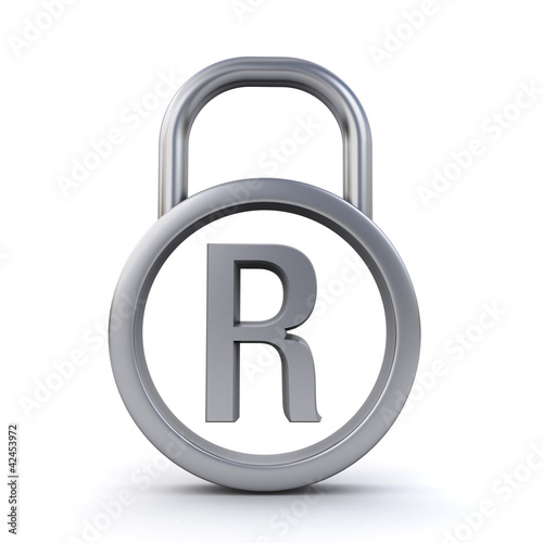 registered trademark padlock