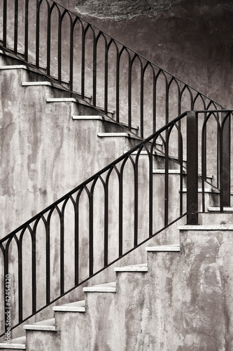 Old metal staircase - 42454320