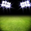 Beleuchteter Fussballplatz
